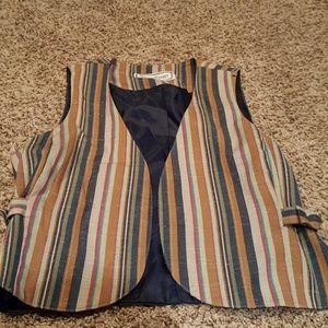 Jackets & Blazers - Striped Vest w/ vintage look